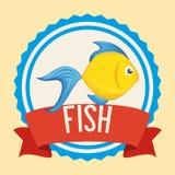 Fish icon design. Fish digital design, vector illustration 10 eps graphic Royalty Free Stock Photo