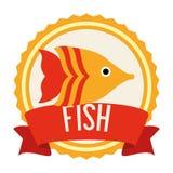 Fish icon design. Fish digital design, vector illustration 10 eps graphic Royalty Free Stock Photos