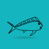 Fish icon design. Illustration eps10 graphic Royalty Free Stock Photo