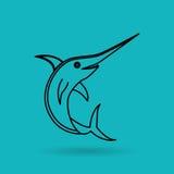 Fish icon design. Illustration eps10 graphic Stock Image