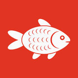 The fish icon. Fish symbol. Flat. Vector illustration Royalty Free Stock Photos