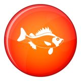 Fish icon, flat style Stock Photos