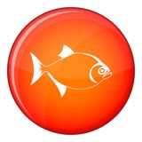 Fish icon, flat style Stock Photo