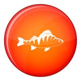 Fish icon, flat style Royalty Free Stock Images