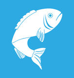 Fish icon graphic design Royalty Free Stock Photos