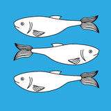 Fish icon graphic design Royalty Free Stock Images