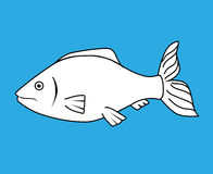 Fish icon graphic design. Vector illustration eps10 Stock Image