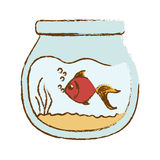 Fish icon image. Fish in bowl icon image  illustration design Royalty Free Stock Photo