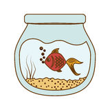Fish icon image. Fish in bowl icon image  illustration design Royalty Free Stock Photography
