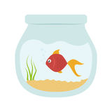 Fish icon image. Fish in bowl  icon image  illustration design Stock Image
