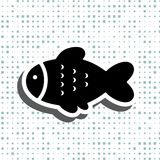 Fish icon or logo. Isolated. Simple black vector symbol Royalty Free Stock Images