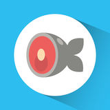 Fish icon. Nutrition and Organic food design. Vector graphic. Nutrition and organic food concept represented by fish icon. Colorfull and flat illustration Royalty Free Stock Photo