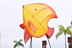 Fish icon in the public park royalty free stock photo