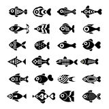 Fish icon set Royalty Free Stock Images