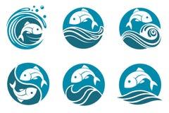 Fish icon set Stock Photo