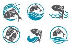 Fish icon set Royalty Free Stock Photos