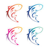 Fish Icon Set. Fish icon in varied colors vector illustration
