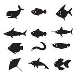 Fish icon set. Vector illustration Graphic Design Stock Image