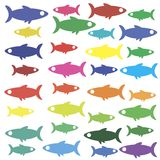 Fish icon wallpaper Stock Image