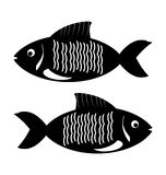Fish icon. On white background vector illustration