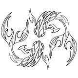 Fish icon on white background. Astrology zodiac. Royalty Free Stock Image