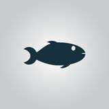 Fish icon on white background Stock Photo