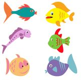 Fish Icons Royalty Free Stock Photos