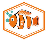 Fish icons design Stock Photos