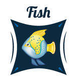 Fish icons design Stock Images