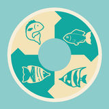 Fish icons design Stock Photography