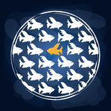 Fish icons design Royalty Free Stock Image