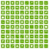 100 fish icons set grunge green. 100 fish icons set in grunge style green color isolated on white background vector illustration stock illustration