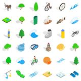 Fish icons set, isometric style. Fish icons set. Isometric style of 36 fish vector icons for web isolated on white background Royalty Free Stock Photo