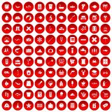 100 fish icons set red. 100 fish icons set in red circle isolated on white vector illustration vector illustration