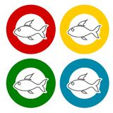 Fish icons set. Vector icon Royalty Free Stock Image