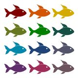Fish icons set. Vector icon Stock Image