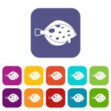 Fish icons set Stock Image