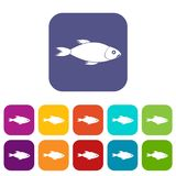 Fish icons set Royalty Free Stock Photo