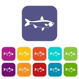 Fish icons set Royalty Free Stock Photos