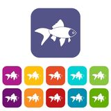 Fish icons set Royalty Free Stock Images