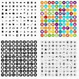 100 fish icons set vector variant. 100 fish icons set vector in 4 variant for any web design isolated on white stock illustration