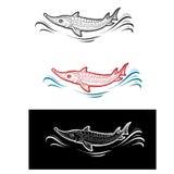 Fish. An icons stylized a fish Stock Photo