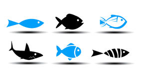 Fish Icons Royalty Free Stock Photography