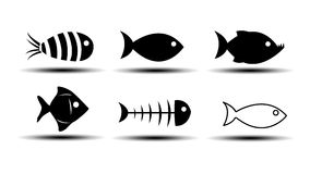 Fish Icons Royalty Free Stock Image