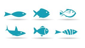 Fish Icons Stock Image