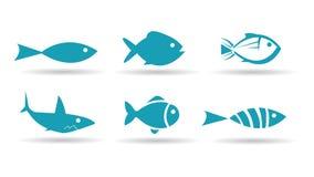 Fish Icons. On white background Stock Image