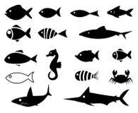 Fish Icons. On white background Royalty Free Stock Image