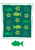 Fish Icons on white background. Set of fish  for aquarium, sea and river animals illustration Stock Images