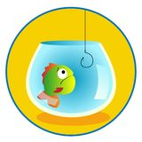 Fish illustration aquarium vector illustration funny illustration Royalty Free Stock Photo