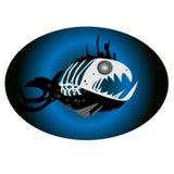 Fish illustration aquarium vector illustration funny illustration. Horror hallowiin Stock Photography
